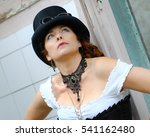 beautiful red hair steampunk... | Shutterstock . vector #541162480