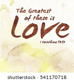 the greatest of these is love... | Shutterstock . vector #541170718