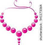 pearl neckless | Shutterstock .eps vector #541173364
