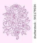 rose flower color drawing... | Shutterstock .eps vector #541179034