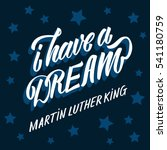 martin luther king day. hand... | Shutterstock .eps vector #541180759