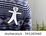 young man with a paper man in... | Shutterstock . vector #541182460
