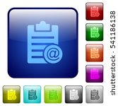 send note as email icons in... | Shutterstock .eps vector #541186138
