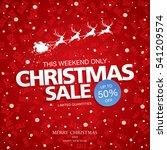 christmas sale banner  vector... | Shutterstock .eps vector #541209574