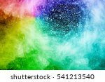 Abstract Multi Color Powder...