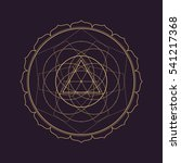 gold monochrome design abstract ... | Shutterstock . vector #541217368