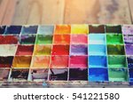 the palette water paints on... | Shutterstock . vector #541221580