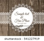 vector lace frame with text on... | Shutterstock .eps vector #541227919