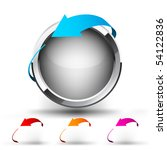 button with round arrow. set | Shutterstock .eps vector #54122836