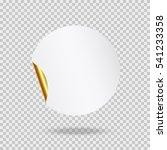 round paper sticker template... | Shutterstock .eps vector #541233358