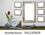 wooden workplace desktop with... | Shutterstock . vector #541235839