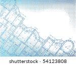 building background. plan of... | Shutterstock . vector #54123808