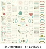 set of 200 colorful hand drawn... | Shutterstock . vector #541246036