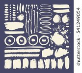 set of hand drawn paint object... | Shutterstock .eps vector #541249054