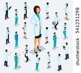 trendy isometric people.... | Shutterstock .eps vector #541251298