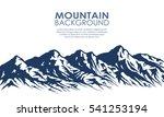 mountain range silhouette...   Shutterstock . vector #541253194