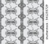 seamless floral doodle... | Shutterstock . vector #541255729