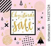 christmas and new year sale... | Shutterstock .eps vector #541257124