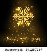 greeting card with sparkling... | Shutterstock .eps vector #541257169