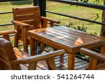wooden tables and chairs for... | Shutterstock . vector #541264744