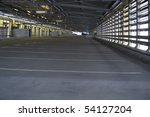 Empty parking garage at airport - stock photo