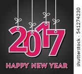 happy new year 2017 | Shutterstock .eps vector #541274230