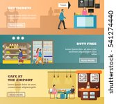 vector set of airport concept... | Shutterstock .eps vector #541274440