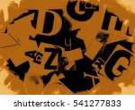 grunge collage of letters... | Shutterstock . vector #541277833