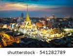 wat traimit at dusk  temple in... | Shutterstock . vector #541282789