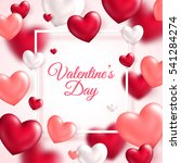 valentine's day concept. vector ... | Shutterstock .eps vector #541284274