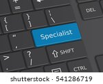 the word specialist written on... | Shutterstock . vector #541286719