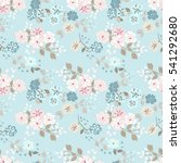 simple cute pattern in small... | Shutterstock . vector #541292680