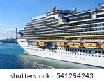cruise ship filled with... | Shutterstock . vector #541294243