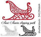 santa's sled clipping path on a ... | Shutterstock .eps vector #541296664