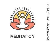 meditation icon. meditation on... | Shutterstock .eps vector #541301470