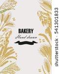 bread design template. hand... | Shutterstock . vector #541301833
