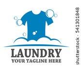 laundry logo template design | Shutterstock .eps vector #541301848