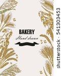 bread design template. hand... | Shutterstock . vector #541303453