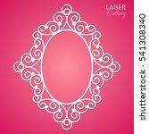 laser cut vector frame.... | Shutterstock .eps vector #541308340