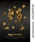 happy new year vector greeting... | Shutterstock .eps vector #541309558