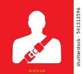seat belt  man icon  vector...   Shutterstock .eps vector #541313596
