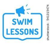 swim lessons. badge  stamp with ... | Shutterstock .eps vector #541315474