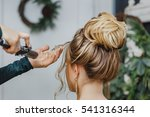 hairdresser working at the... | Shutterstock . vector #541316344