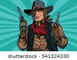 steampunk robot cowboy bandit... | Shutterstock .eps vector #541324330