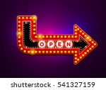 arrow light neon sign billboard.... | Shutterstock .eps vector #541327159