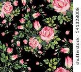 seamless pattern bouquet bud... | Shutterstock . vector #541328008