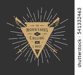 vintage adventure or sport logo ... | Shutterstock . vector #541332463
