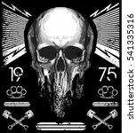 skull t shirt graphic design   Shutterstock .eps vector #541335316