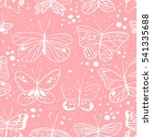 seamless pattern with butterfly.... | Shutterstock .eps vector #541335688