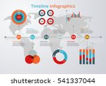 vector illustration timeline.... | Shutterstock .eps vector #541337044